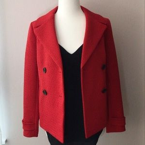 Talbots   Short Peacoat in Red   Size: 2 Petite